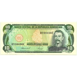 (119c) República Dominicana. 1988. 10 Pesos Oro (EBC)