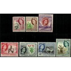 (81 a 87) Rhodesia del Sur. 1953. Serie Mini