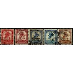 (187,189,190,192,213) Congo Belga. 1942. Serie Mini