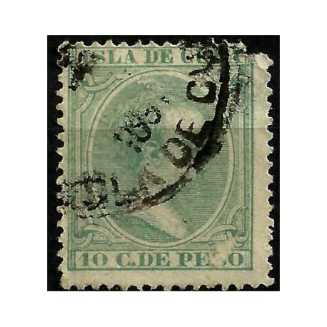 (149) Cuba Colonial. 1890-97. 10 C. de Peso