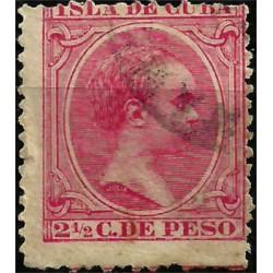 (143) Cuba Colonial. 1896. 2½ C. de Peso