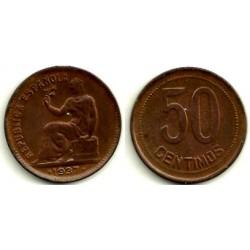 1937(*3-4) 50 Céntimos (EBC)