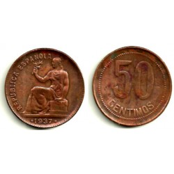 1937(*3-6) 50 Céntimos (MBC)