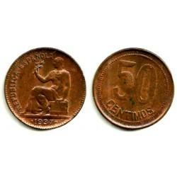 1937(*--6) 50 Céntimos (EBC+)