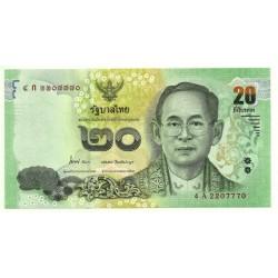 (124) Tailandia. 2013-16. 20 Baht (SC)