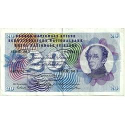 (46u) Suiza. 1976. 20 Francs (BC+)