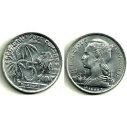 (6) Islas Comores. 1964. 5 Francs (SC)