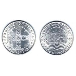 (21) Portugal. 1970. 50 Escudos (SC) (Plata)