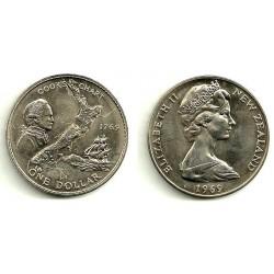 (40.1) Nueva Zelanda. 1969. 1 Dollar (SC)