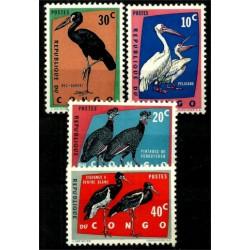 Congo. 1963. Serie Mini. Aves