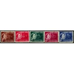 (244 a 248) África del Sudoeste (Actual Namíbia). 1953. Serie Completa. Elisabeth II y Flor