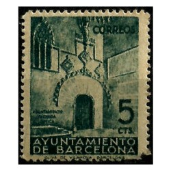 (20) Exposición Internacional de Barcelona. 1938. 5 Céntimos. Sin Número de Control al dorso