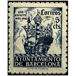 (50) Exposición Internacional de Barcelona. 1943. 5 Céntimos