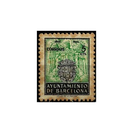 (61) Exposición Internacional de Barcelona. 1944. 5 Céntimos