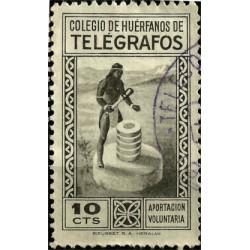 Colegio de Huerfanos de Correos. 10 Céntimos