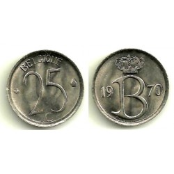(153.1) Bélgica. 1970. 25 Centimes (SC)