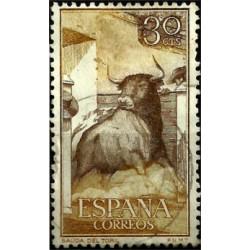 (1257) 1960. 30 Céntimos. Tauromaquia. Salida del toril
