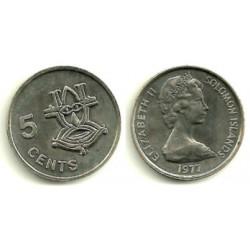(3) Islas Salomón. 1977. 5 Cents (SC)
