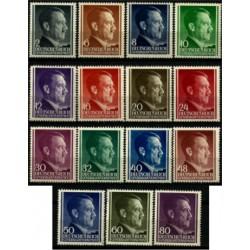 (N76 a N90) Polona (Ocupación Alemana). 1941-43. Serie Completa