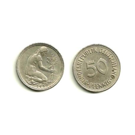 (109.1) Alemania. 1950(F). 50 Pfennig (MBC-)