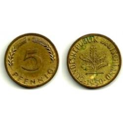 (107) Alemania. 1950(F). 5 Pfennig (MBC)