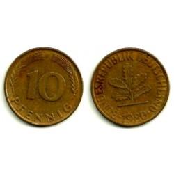 (108) Alemania. 1980(F). 10 Pfennig (MBC)