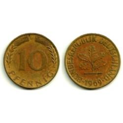 (108) Alemania. 1969(D). 10 Pfennig (MBC)