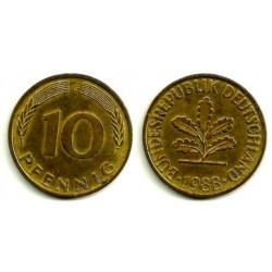 (108) Alemania. 1988(G). 10 Pfennig (EBC)