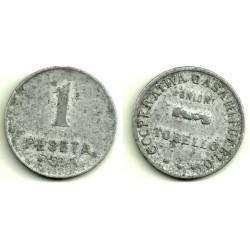 Cooperativa Casa del Poble (Unió Torelló) 1 Peseta (Aluminio)