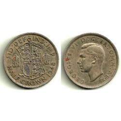 (866) Gran Bretaña. 1948. Half Crown (MBC-)