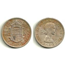 (907) Gran Bretaña. 1957. Half Crown (SC)