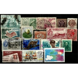 Lote de sellos de varios paises (17 uds)