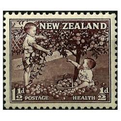 (B49) Nueva Zelanda. 1956. 1½ + ½ Penny. Health (Nuevo)