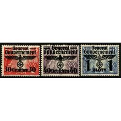 (NB48 a NB50) Polonia (Ocupación Alemana). 1940. Serie Completa. Con Sobrecarga (Usado)