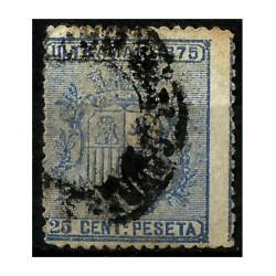 Cuba Colonial. 1875. 25 Céntimos de Peseta. Escudo (Usado)