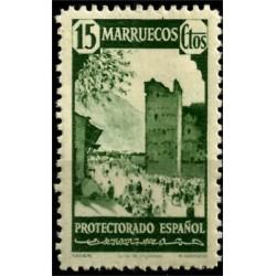 Protectorado de Marruecos. 1940.15 Céntimos. Xauen (Nuevo)