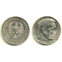 (86) Alemania (III Reich). 1936(F). 5 Mark (EBC)