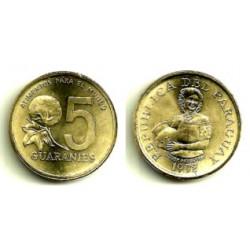 (166a) Paraguay. 1992. 5 Guaranies (SC)
