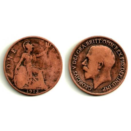 (810) Gran Bretaña. 1913. 1 Penny (RC)