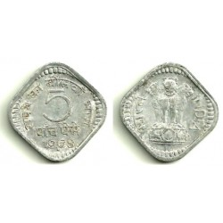 (18) India. 1968. 5 Paise (BC+)