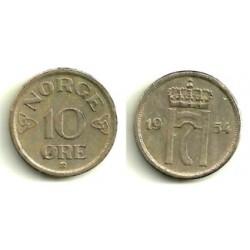 (396) Noruega. 1954. 10 Ore (MBC)