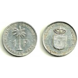 (4) Congo Belga. 1957. 1  Franc (MBC+)
