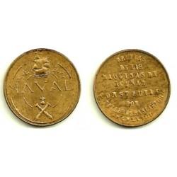 Estado Español. 1948. 1 Peseta (EBC+) Naval. No Coincidente