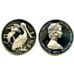 (5) Islas Vírgenes Británicas. 1975. 50 Cents (Proof)