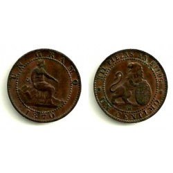 1870 1 Céntimo (EBC+)