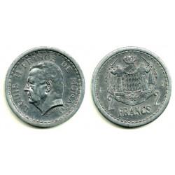 (121) Mónaco. 1943. 2 Francs (EBC)