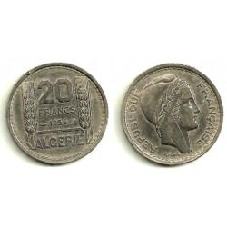(91) Algeria. 1956. 20 Francs (MBC)