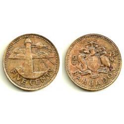 (11) Barbados. 1973. 5 Cents (MBC-)