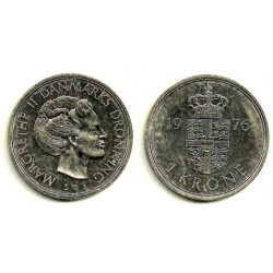 (862.1) Dinamarca. 1976. 1 Krone (MBC+)