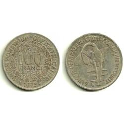 (4) Estados África Oeste. 1976. 100 Francs (MBC-)